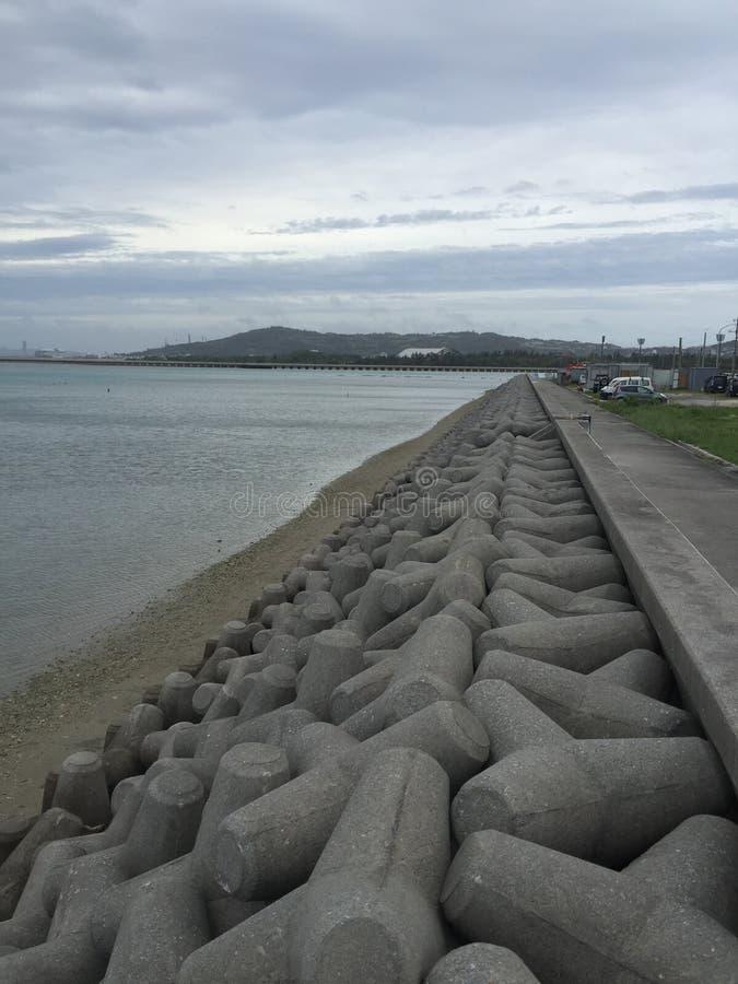 海滩冲绳岛街道画 图库摄影