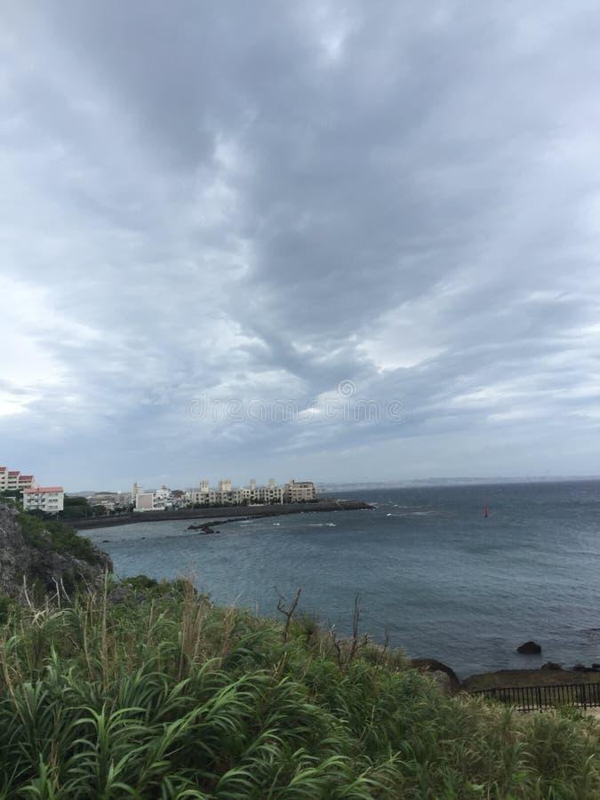 海滩冲绳岛 免版税库存图片
