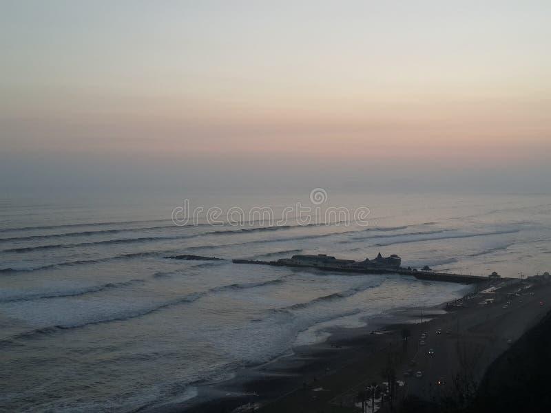 海滩利马,秘鲁 免版税库存图片