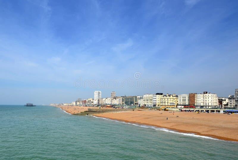 海滩前的布赖顿 免版税库存图片