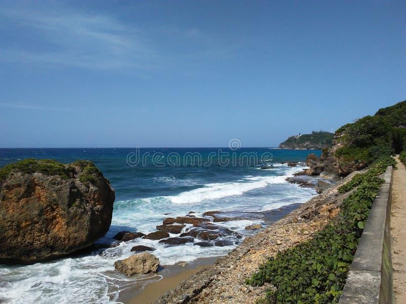 海滩前面 库存图片