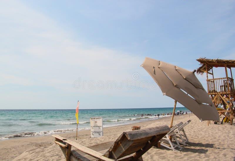 海滩前 图库摄影