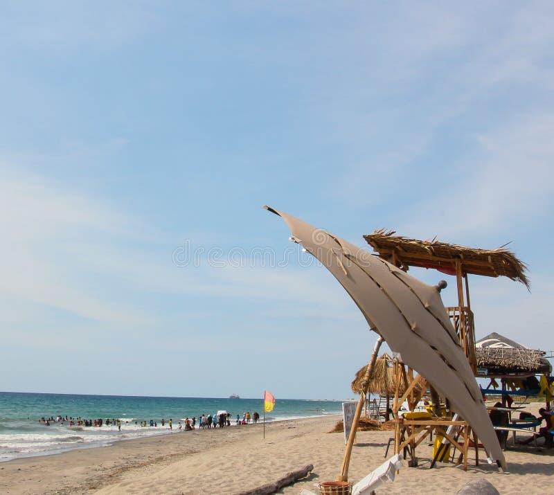 海滩前 免版税库存照片