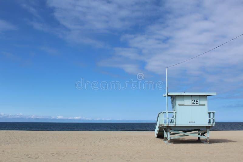海滩加利福尼亚monica ・圣诞老人 免版税库存图片