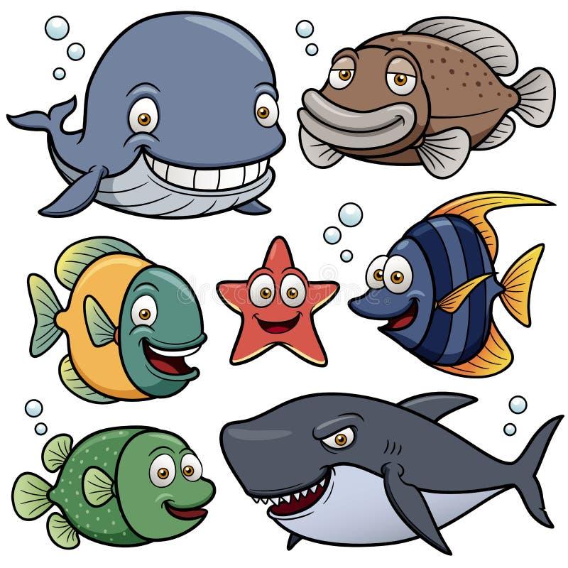 海洋动物汇集 皇族释放例证