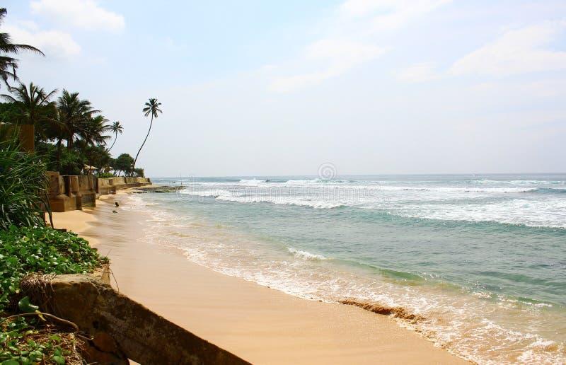 海滩区域Koggala 免版税库存图片