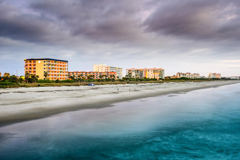 海滩可可粉佛罗里达 免版税图库摄影