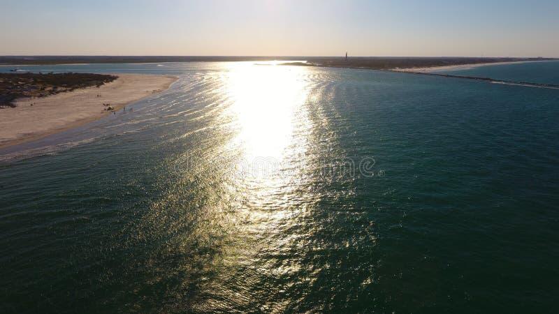 海滩和大海 免版税库存图片