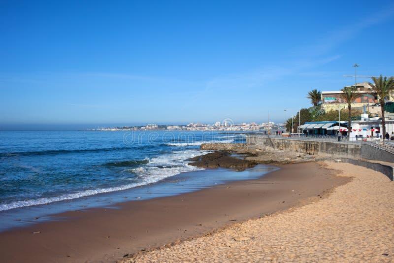 海滩和大西洋在爱都酒店 库存图片