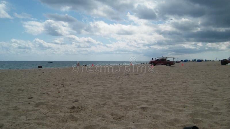 海滩和救生员 库存图片