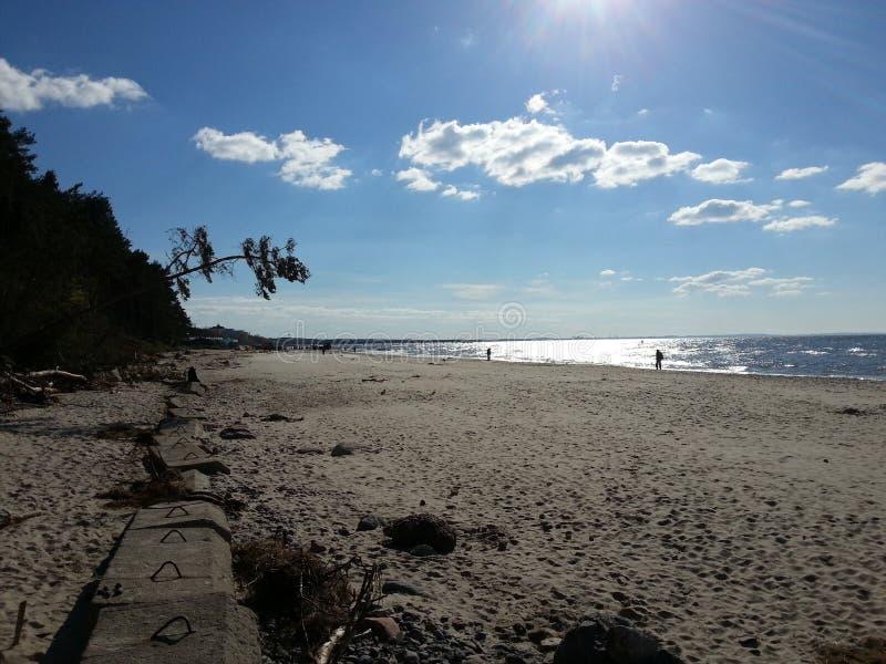 海滩和波罗的海 免版税库存照片