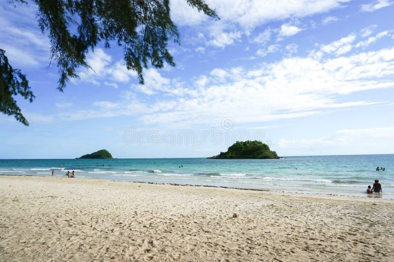 海滩和海在夏天 库存图片