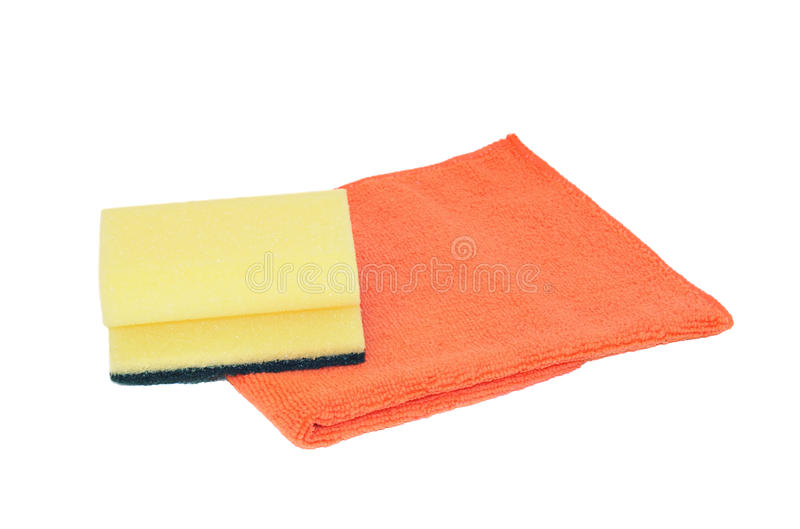 海绵和microfiber餐巾 库存照片