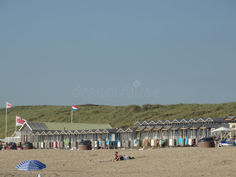 海滩和seasight在Wijk aan Zee 图库摄影