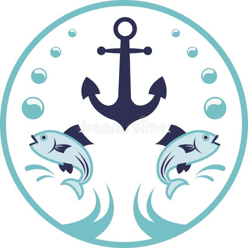 海洋商标 向量例证
