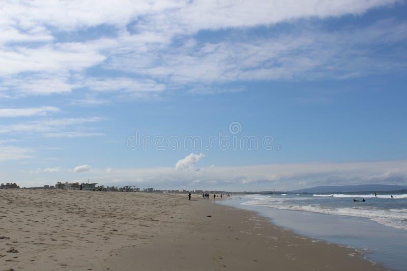 海滩圣塔蒙尼卡,加利福尼亚 免版税库存图片