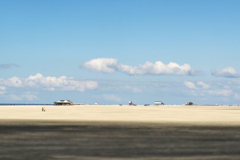 海滩圣皮特圣徒・彼得Ording 免版税库存图片