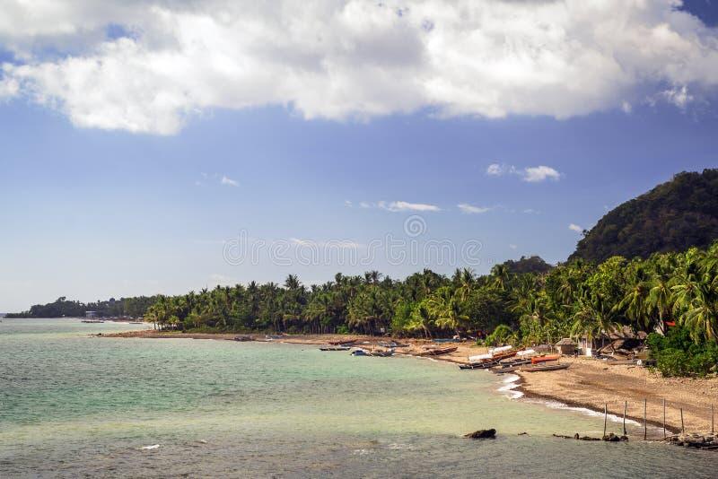 海滩在伊洛伊洛省 免版税图库摄影