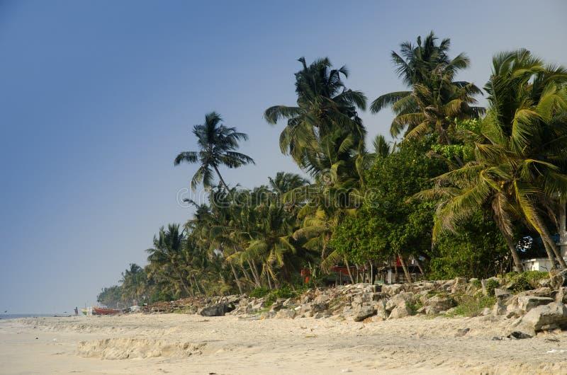海滩在印度 库存照片