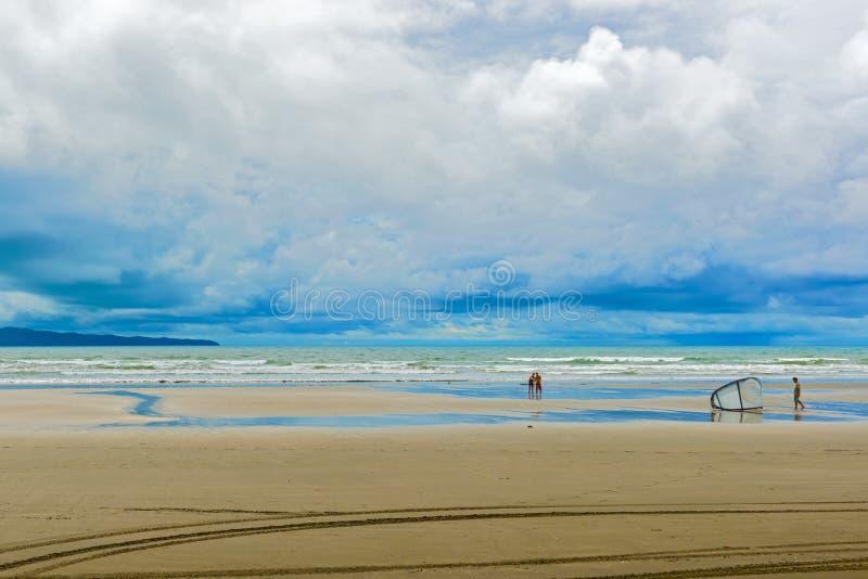 海滩在圣卡塔利娜在巴拿马 免版税图库摄影