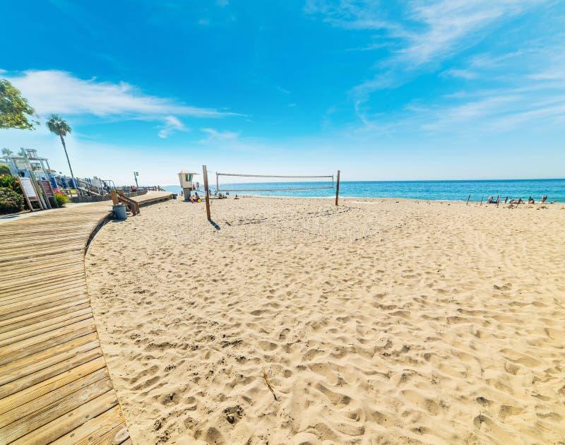 海滩在拉古纳海滩的齐射法院 库存图片