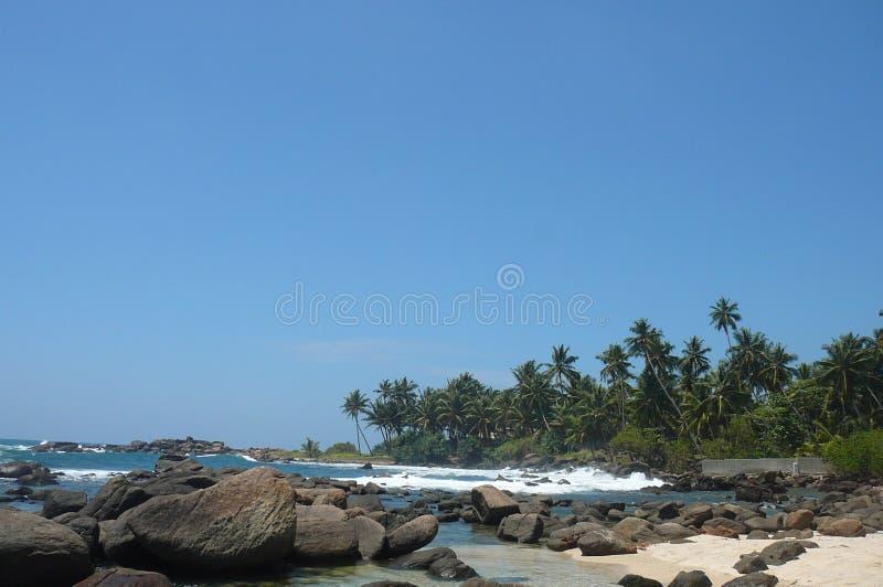 海滩在斯里兰卡 免版税库存图片