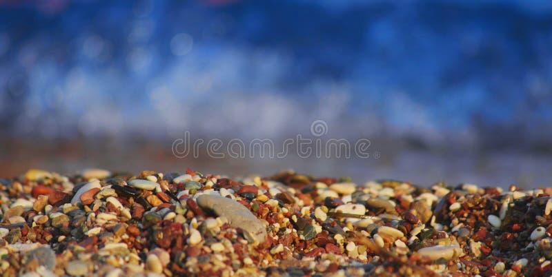 海滩在海边 图库摄影