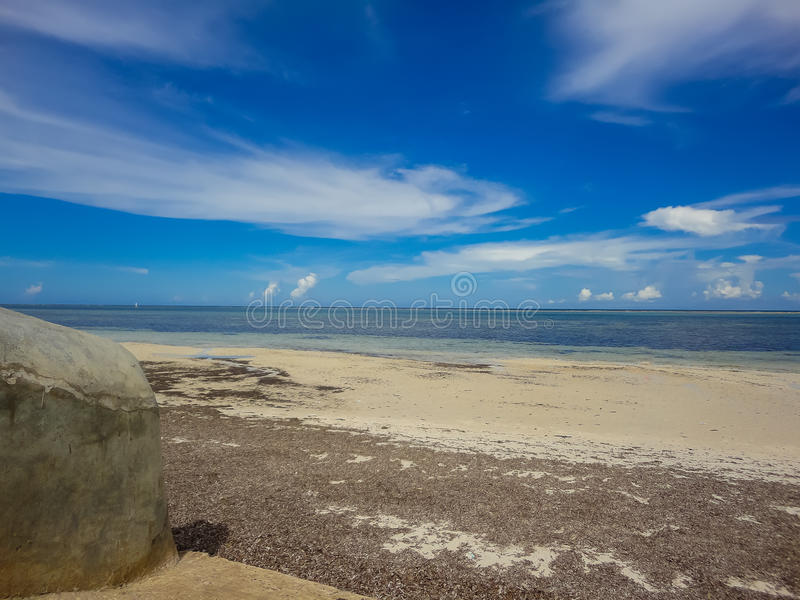 海滩在蒙巴萨,肯尼亚 免版税库存图片