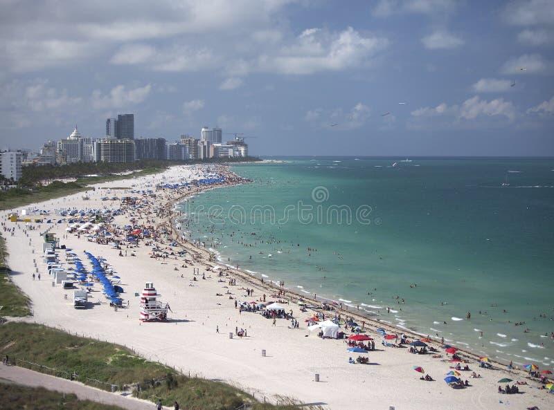 海滩在迈阿密,佛罗里达 免版税库存图片
