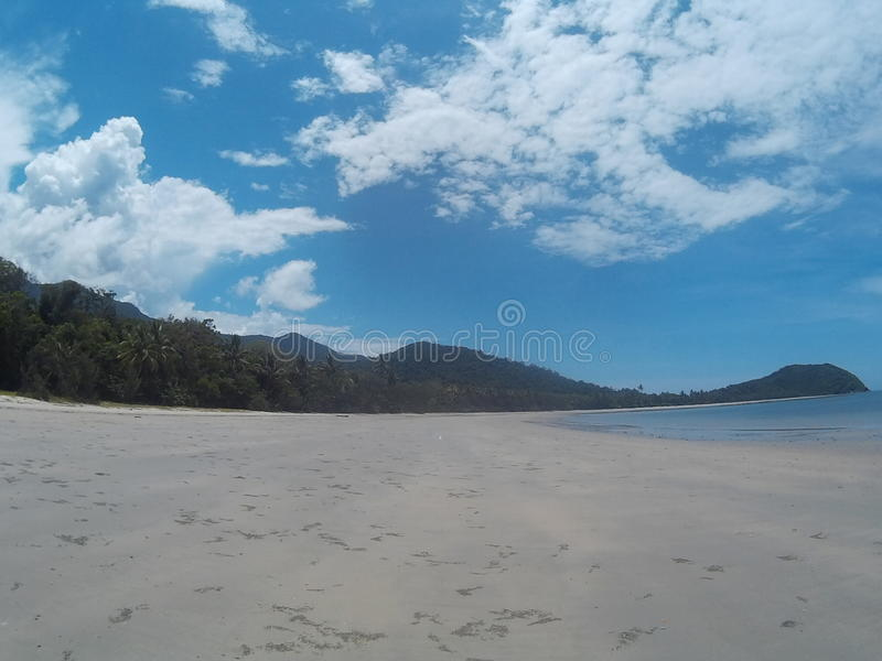 海滩在Daintree 库存照片