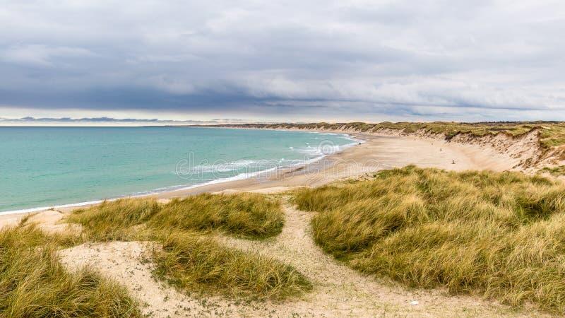 海滩在Thy的国家公园 图库摄影