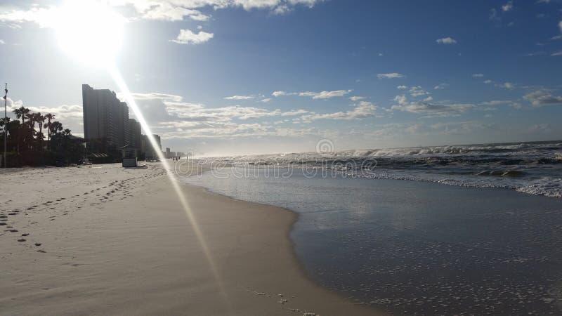 海滩城市佛罗里达巴拿马 免版税库存图片