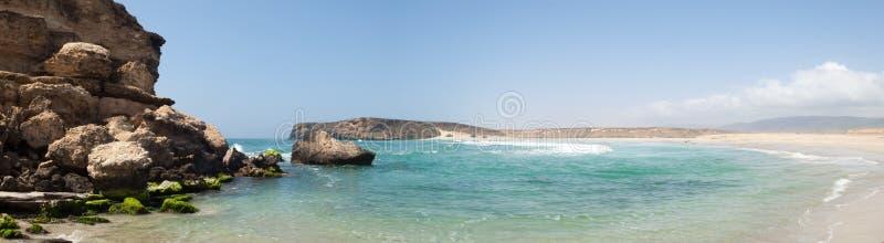 海滩塞拉莱, Dhofar,阿曼苏丹国 免版税图库摄影