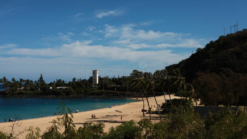海滩夏威夷例证热带向量 图库摄影