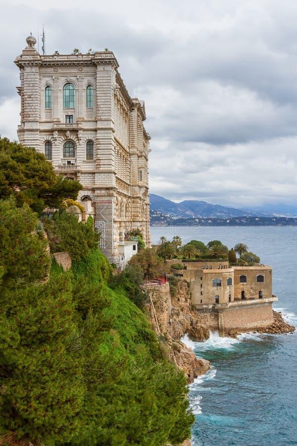 海洋学摩纳哥的博物馆 免版税图库摄影