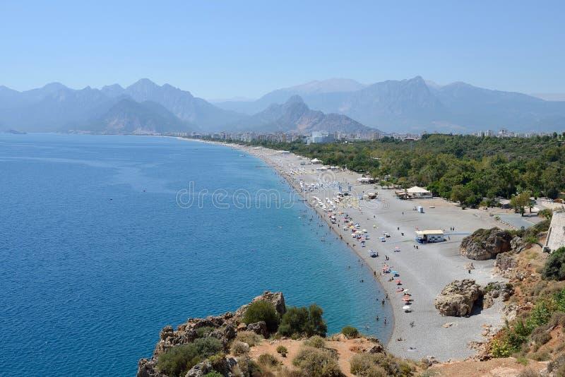 海滩安塔利亚,土耳其 图库摄影