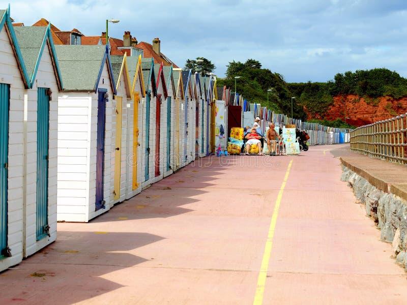 海滩小屋,普雷斯顿沙子 图库摄影