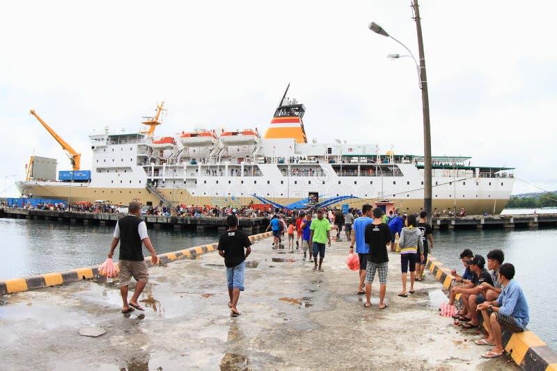 海洋小船在纳比雷 库存图片
