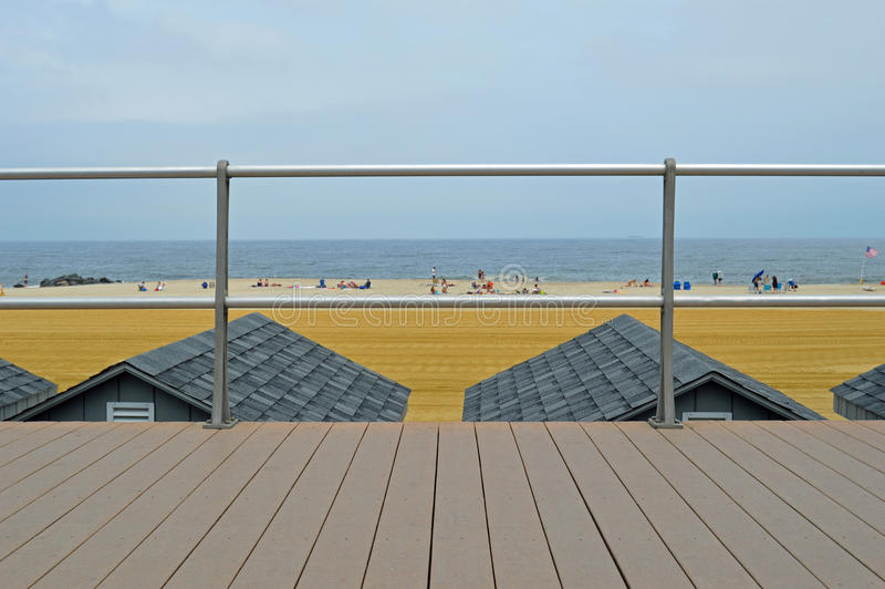海滩平房屋顶 免版税库存照片