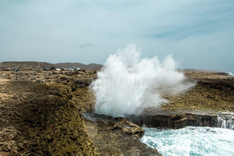 海滩库拉索岛 库存照片