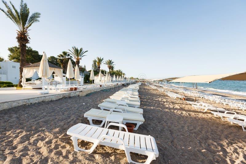 海滩离开的地中海 免版税图库摄影