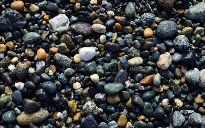 海滩当前石头 库存图片