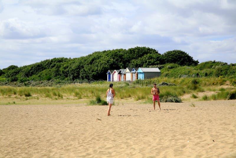 海滩戏剧 图库摄影