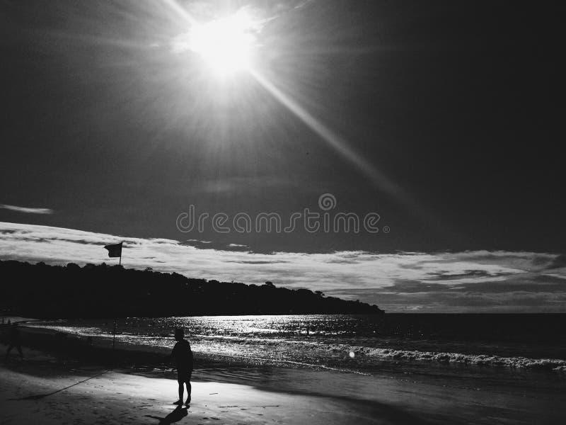 海滩断裂 库存图片