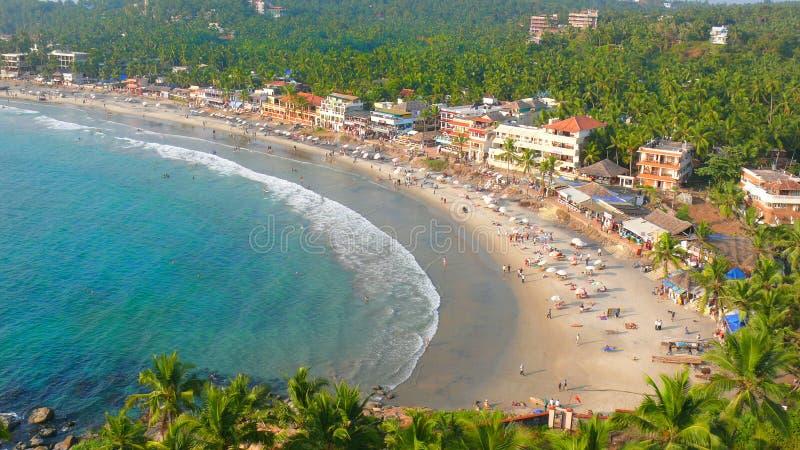 海滩旅游假日在南印度 免版税库存照片