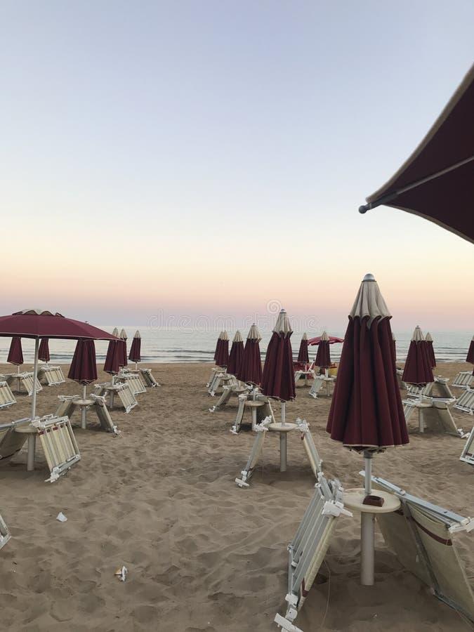 海滩日落射击 库存照片