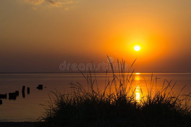 海洋日落 库存图片