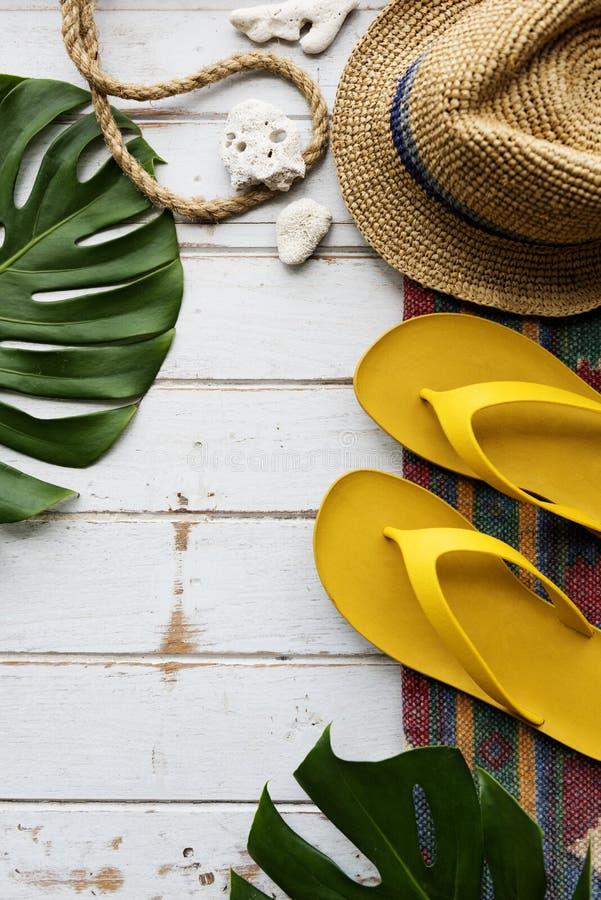海滩暑假假期旅途探险概念 免版税图库摄影