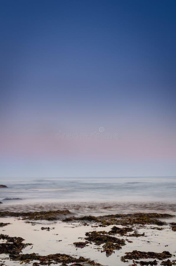 海洋暮色垂直 免版税库存照片
