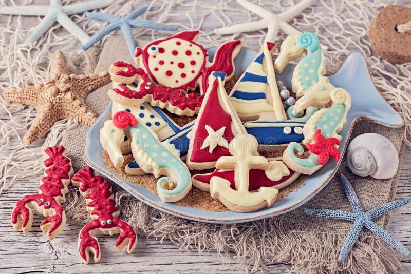 海洋曲奇饼 库存照片